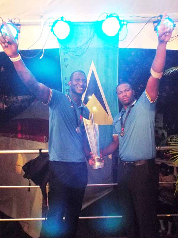 Image: Darren Sammy and Johnson Charles