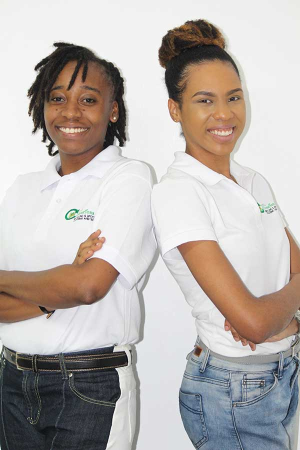 Image of CEO Donna Hyacinth (left) and COO Jeanneal Fontenelle (right).
